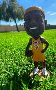 Lakers LeBron James Bobblehead NBA finals gift LA